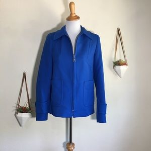 Zara Woman bright royal blue pea coat